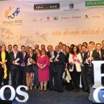 Foto de familia de la X edición de los Premios Empresariales Grupo ROS