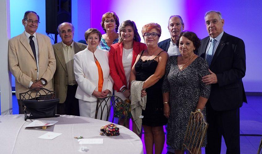 Con la directora general de Deportes, Conchi Bellorín (centro de la imagen)