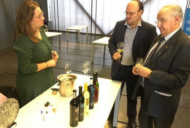 Jorge Gruart durante el encuentro con empresarios extremeños y mexicanos